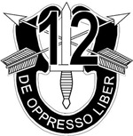 12th Special Forces - DUI - No Txt