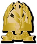 Israel - Gilded Adjutancy Hat Badge.No Txt