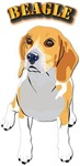 Beagle Dog with Text