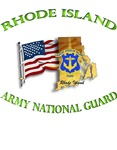 RHODE ISLAND ARNG With Flag