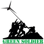 Green Soldier(Wind Power) T-Shirts and Gifts
