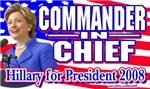 Hillary Commander in Chief Gear