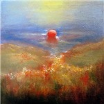Red Bouy Oil Painting
