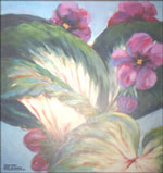 AFRICAN VIOLETS oil painting posters, prints, mugs