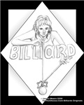 Bad Girl Bridgit, Pool Sports Diva Cartoon Picture