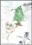 Dragons Hill Tree Hobbit High Fantasy Art Gifts