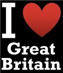 I Love Great Britain Dark Tee