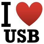 I Love USB Light Tee