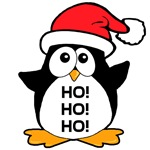 Cute Christmas Penguin T-Shirts Magnets, Stickers, and more!