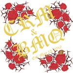Personalized Initials - Roses Old English