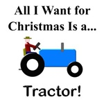Blue Christmas Tractor