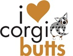 I Heart Corgi Butts - Blue Merle Cardigan