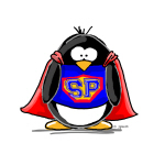 Superhero penguin