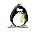 Light Green Ribbon Ribbon Penguin