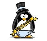 Happy New Year Penguin