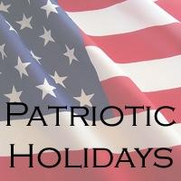 Patriotic american holidays