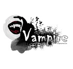 Beautiful vampire mouth grunge