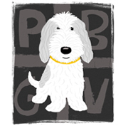 Grey & White PBGV Cartoon