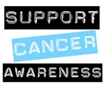 Support Cancer Awareness T-Shirts & Gifts-Lt Blue