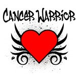 Cancer Warrior Red Heart Tattoo Shirts & Gifts