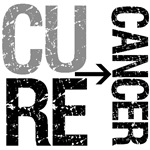 Cure (Brain) Cancer Grunge Gear, Shirts & Gifts