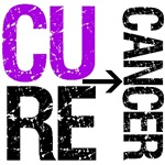 Cure (Pancreatic) Cancer Grunge Shirts & Gifts