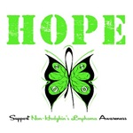 Hope Butterfly Non-Hodgkin's Lymphoma Shirts