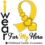 Childhood Cancer Hero Ribbon Shirts &amp; Gifts