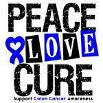 Peace Love Cure Colon Cancer Shirts