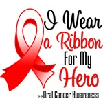 I Wear a Ribbon For My Hero Oral Cancer Shirts