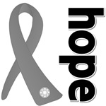 Hope Ribbon Brain Cancer Shirts and Gifts