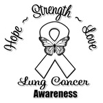 Lung Cancer Hope Love Strength Shirts