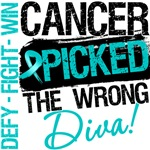 Ovarian Cancer Cancer Picked The Wrong Diva Shirts