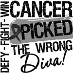 Melanoma Cancer Picked The Wrong Diva Shirts