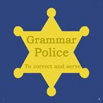 Grammar Police shirts