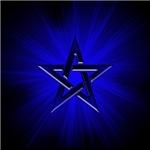 Ominous Blue Pentagram