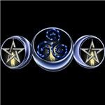 Triple Spiral Lunar Moon