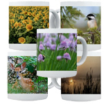 Nature Photography On Ceramic Coffee Mugs.