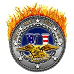 USN Seal Team VI Flames
