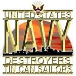 US Navy Destroyers Tin Can Sailors Gold