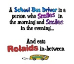 A school bus driver is a person who...