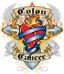 Colon Cancer Cross and Heart