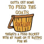 Funny Goat Sayings Feed Bucket