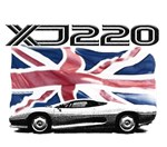 XJ220 Jag UK flag