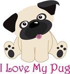 Adorable I LOVE MY PUG