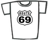 Route 69 Retro Parody T-Shirts & Gifts