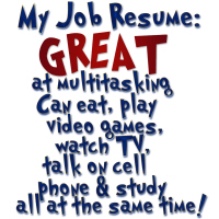 Slackers Job Resume Humor Shirts