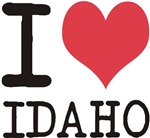I Love Idaho States of USA products & designs! Che