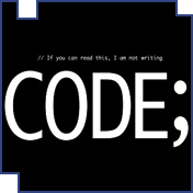 Not Writing Code