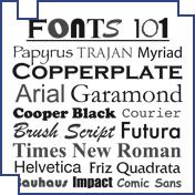Fonts 101
